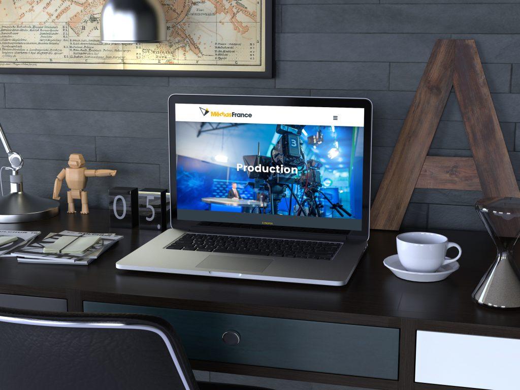 Médias France – Site Internet et invitation numérique