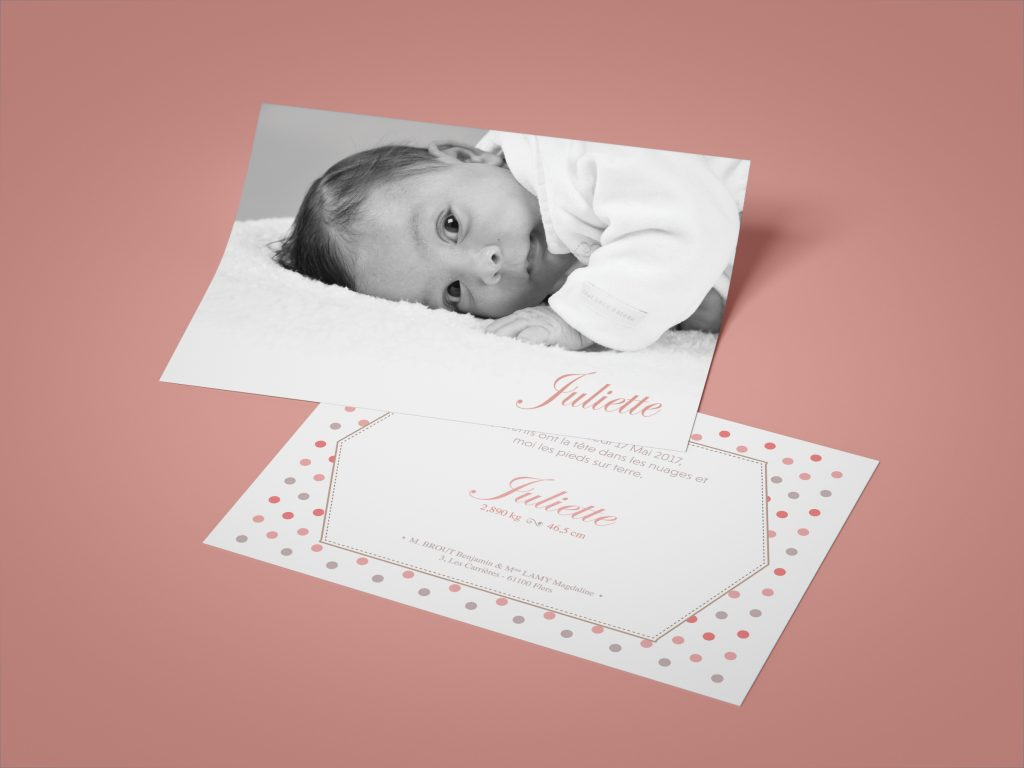 Juliette – Faire part de naissance
