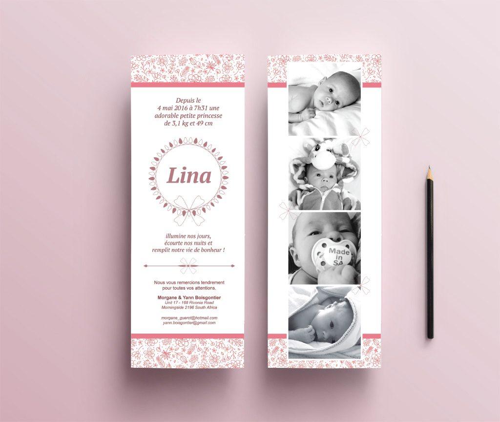 Lina – Faire part de naissance