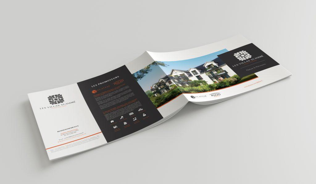 Les Villas Saint-André – Logo, brochure, dépliant, flyer et panneau 4×3