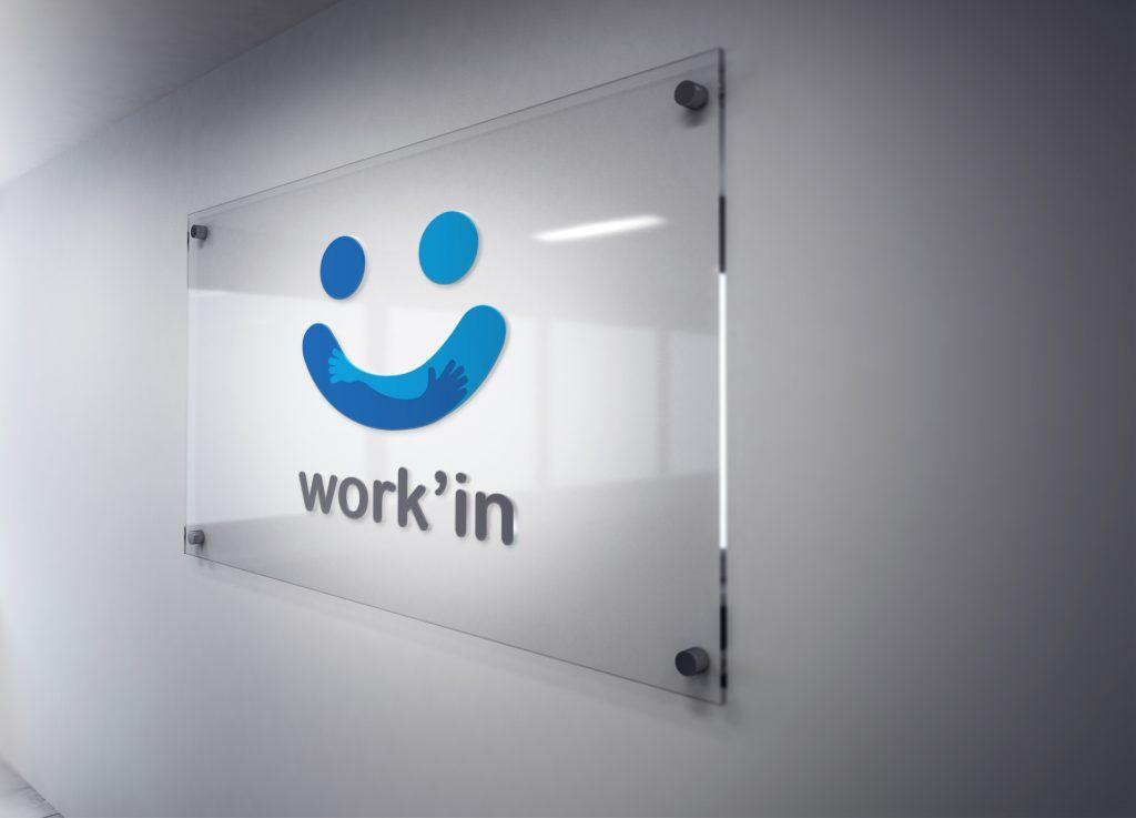 Work'In – Logo, plaquette commerciale et publicité