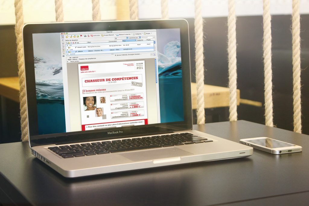 Adecco – Mailings et e-mailings