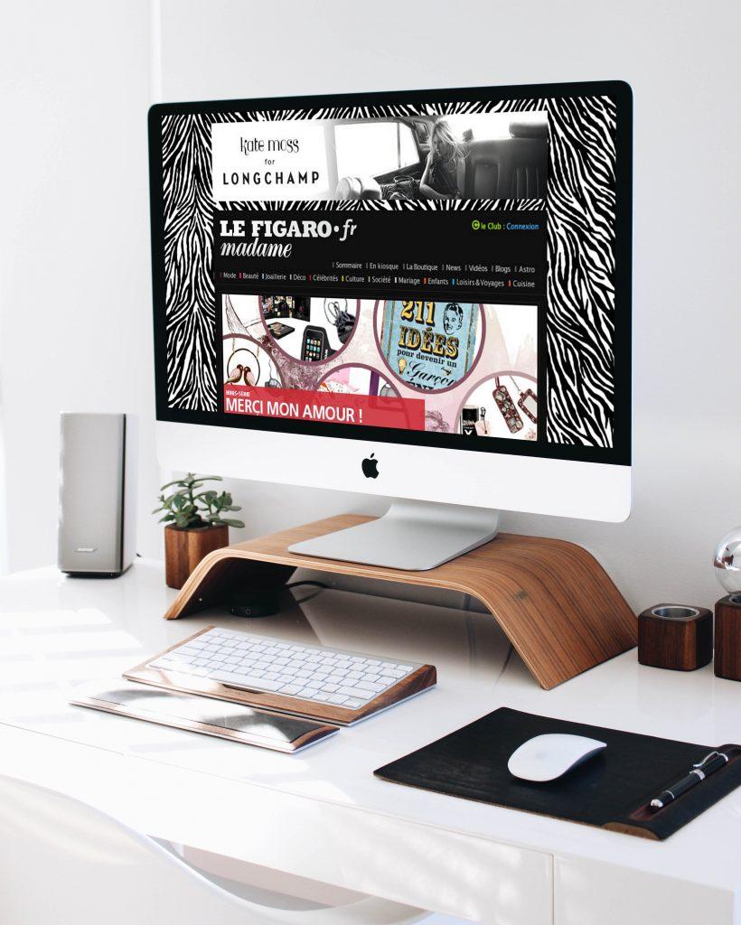 Longchamp – Habillage sites internet et bannières