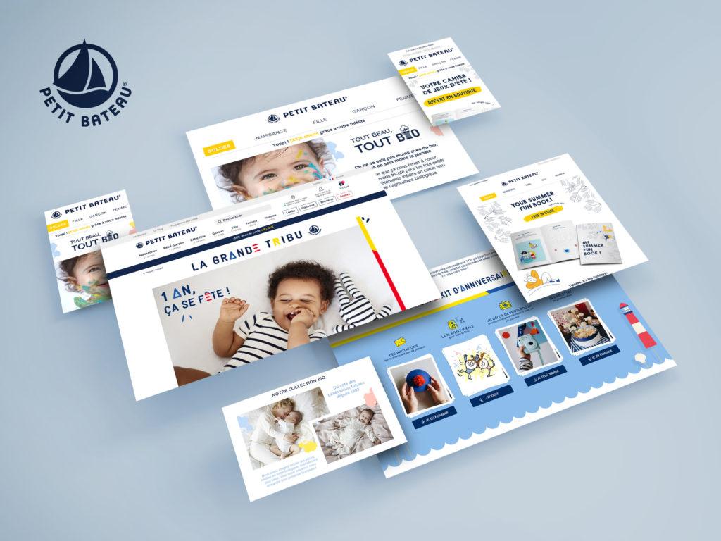 Petit Bateau – Webdesigns, newsletters et campagnes d'emailings