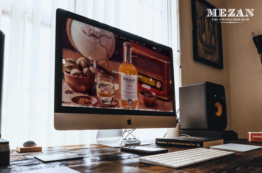 Mezan Rum : webdesign, intégration et développement du site internet vitrine