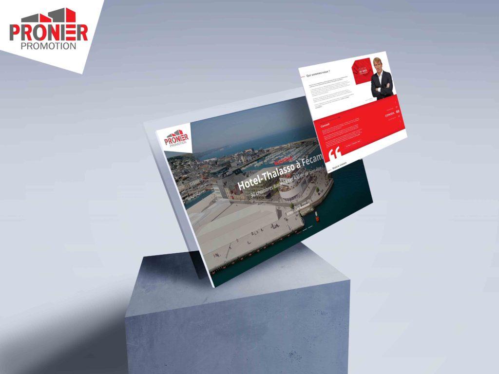 Pronier Promotion : webdesigns, intégration et développement du site internet