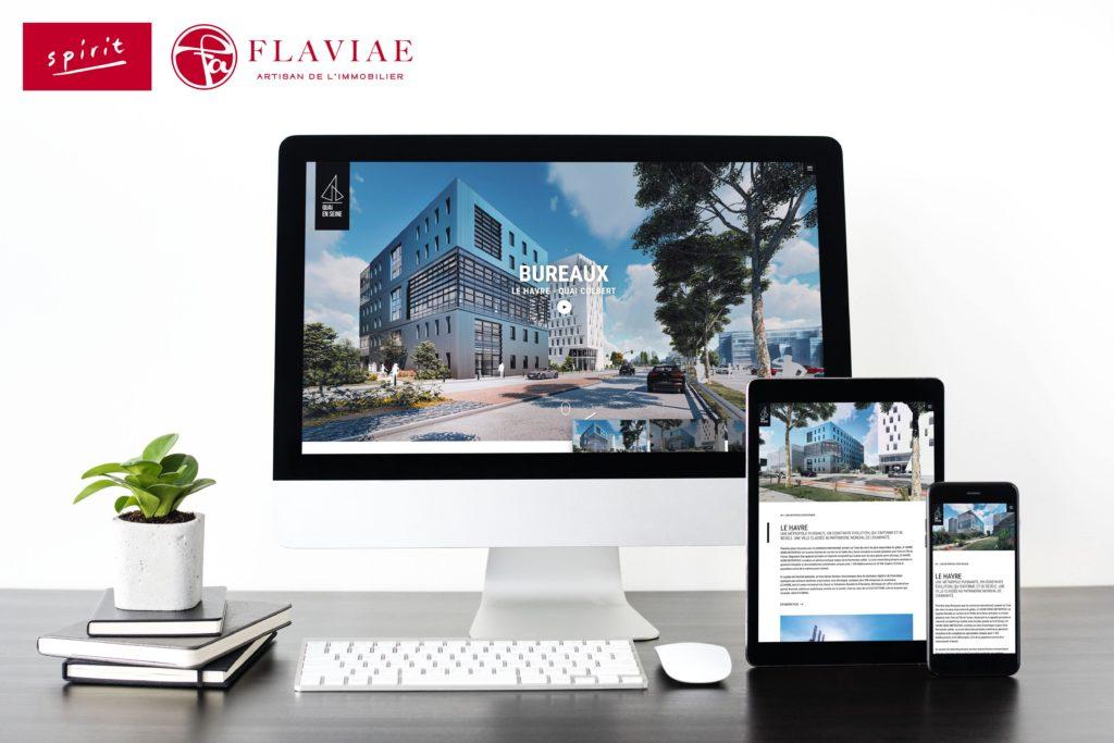 Quai en Seine – Le Havre : logo, brochure commerciale, affichage et site internet