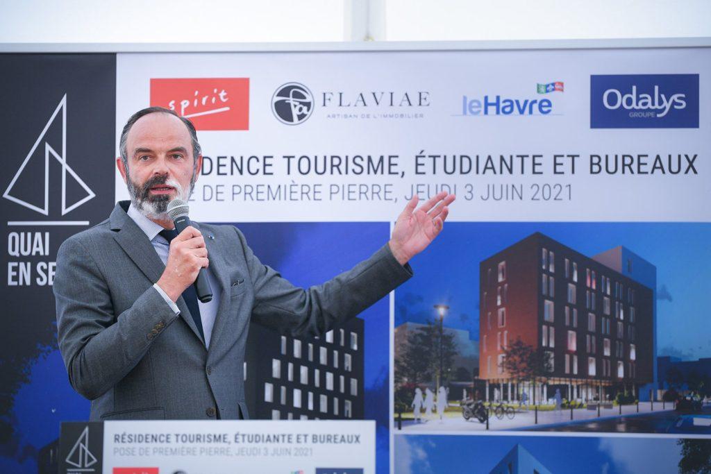 Organisation d'évènement : pose de première pierre «Quai en Seine – Le Havre» en présence d'Édouard Philippe